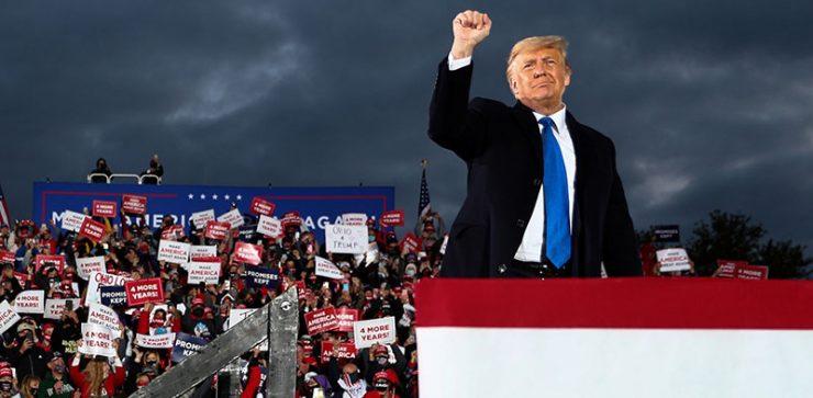 טראמפ בעצרת בחירות באוהיו